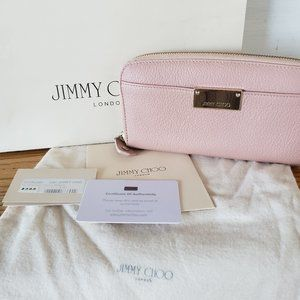 Jimmy Choo Pippa Wallet in pink, Made in Italy